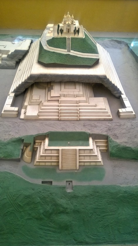 Model of Great Pyramid of Cholula, Tlachihualtepetl