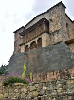 The Dominicans built their church on top of and with stones from Coricancha, the sun temple