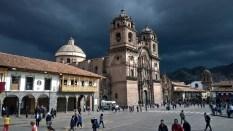 Compania de Jesus Iglesia right before a thunder storm