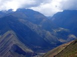 View down into the Sacred Valley.