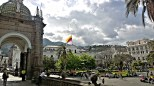 The Presidential Palace on the Grand Plaza in Quito.