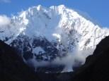 Close up view of Nevado Salkantay