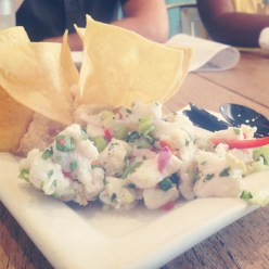 Ceviche at Books & Books Café