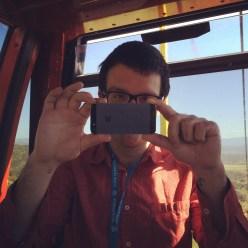 Chris on a gondola
