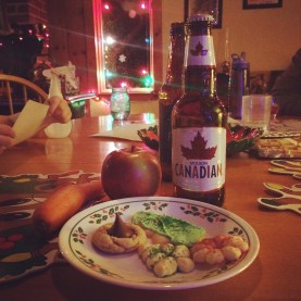 Cookies and Canadian beer for Santa