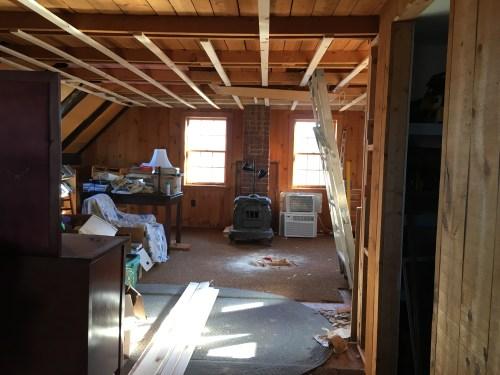 Ceiling in progress.