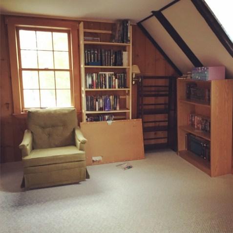 Tim's corner, 90% books.