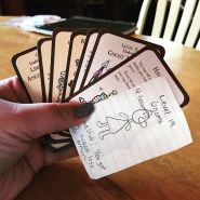 Ellie_made_her_own_cards_for_Munchkin.