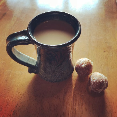 Coffee + pumpkin spice Timbits