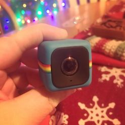 Adorable Polaroid Cube+ from my brother and sister!