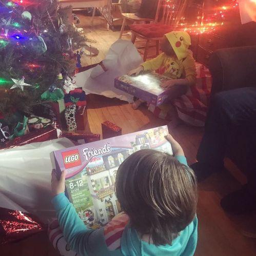 Santa was good to us.