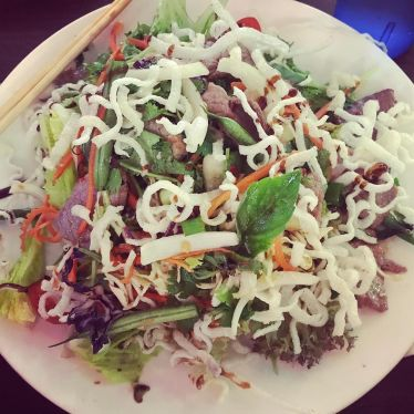 Thai beef salad at TK Noodle House.