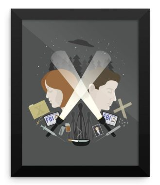 The X-Files Poster Print Fan Art - The Light in Dark Places by Calobee Doodles