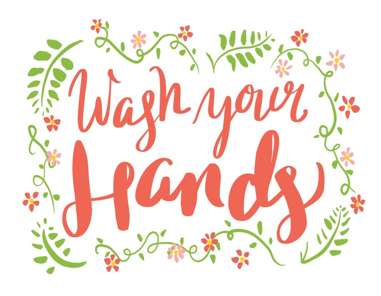 Wash your hands in script
