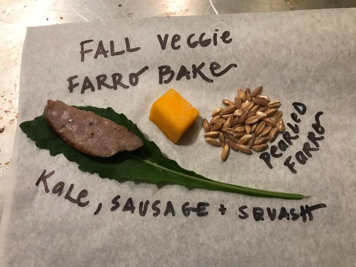 Fall Veggie Farro Bake