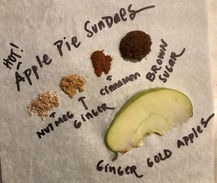 Apple Pie Sundae