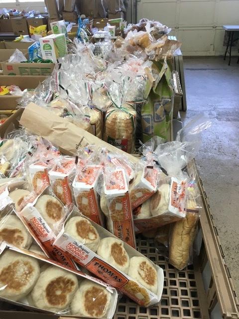 baked goods for distribution at Caroline Food Pantry
