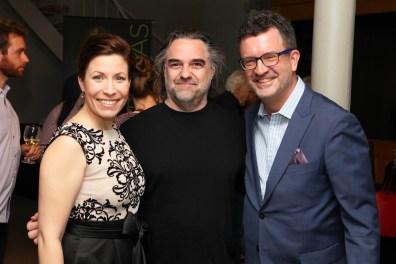 Caroline Gélinas en compagnie de Dominic Beaudoin (Technique et Prise de Son de l'Album, Radio-Canada) et Olivier Godin