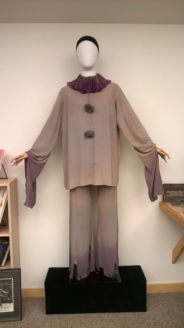 The costume now on display in the Reading Room.