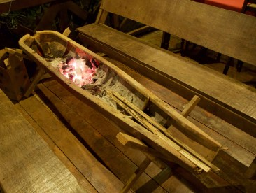 Fire pit made out of bomb casing—C.Helbig