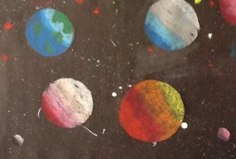 Mixed media space art