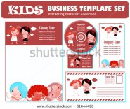 stock-vector-kids-business-template-set-kids-style-corporate-template-61644496