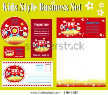 stock-vector-kids-style-corporate-identity-template-61644493
