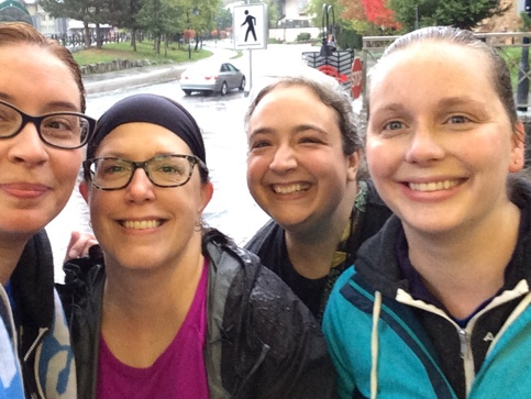 Post-5k Soggy Walkers selfie. Photo by Jen Hooks.