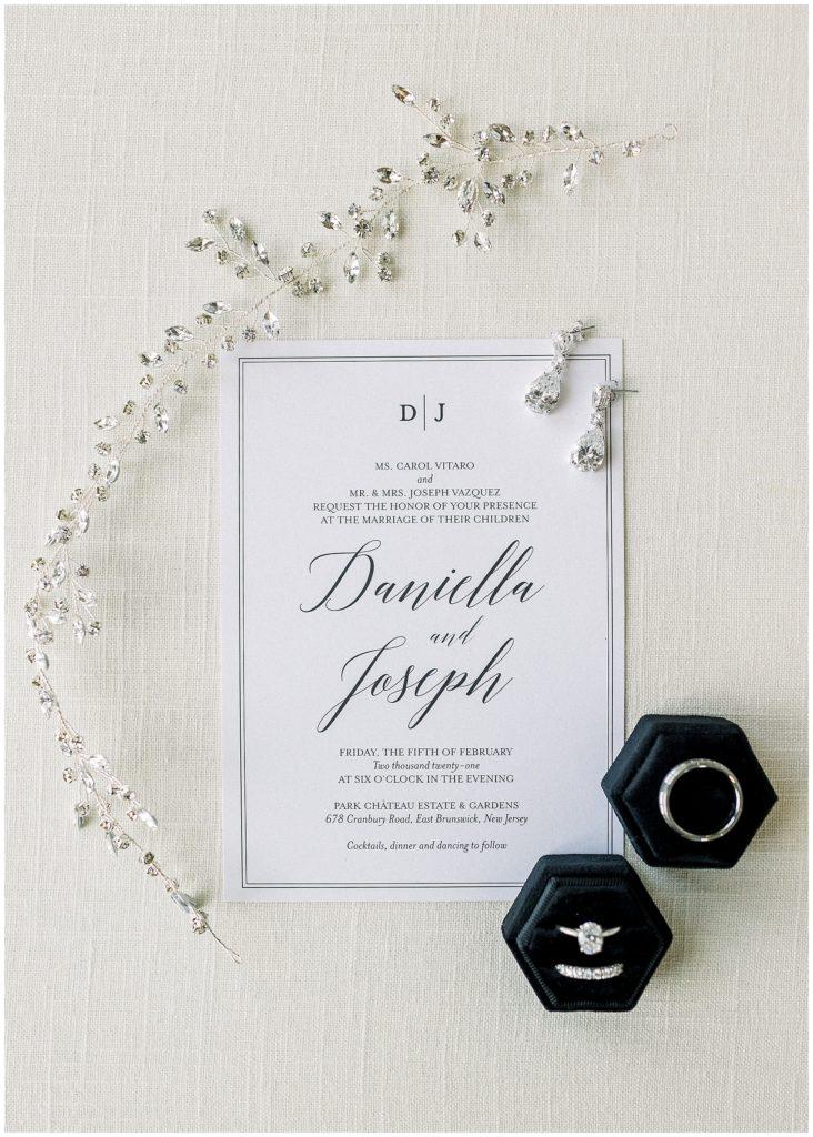 bridal details at Park Chateau winter wedding