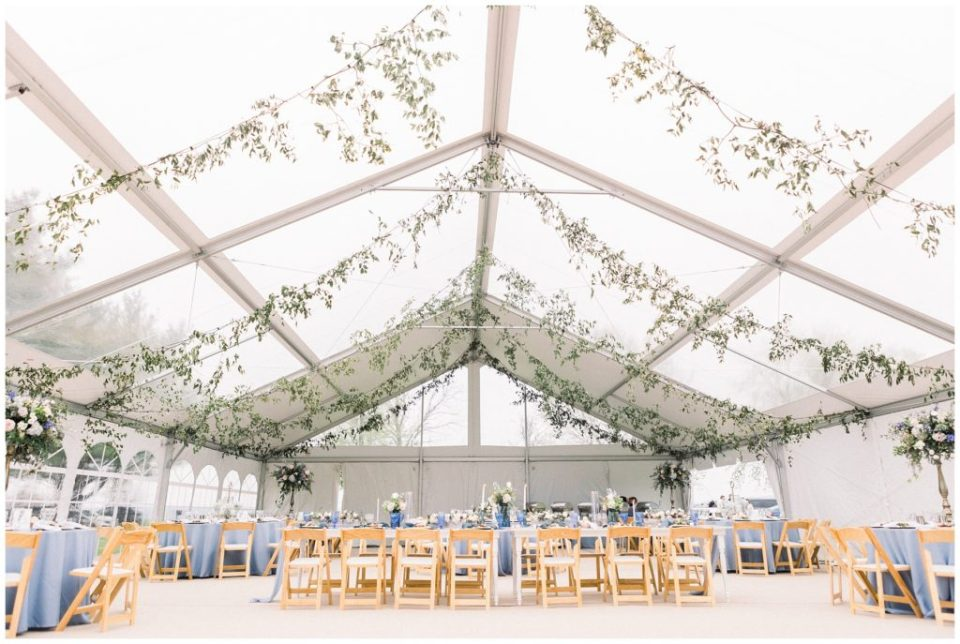 clear tent wedding reception at Phillipsburg, New Jersey
