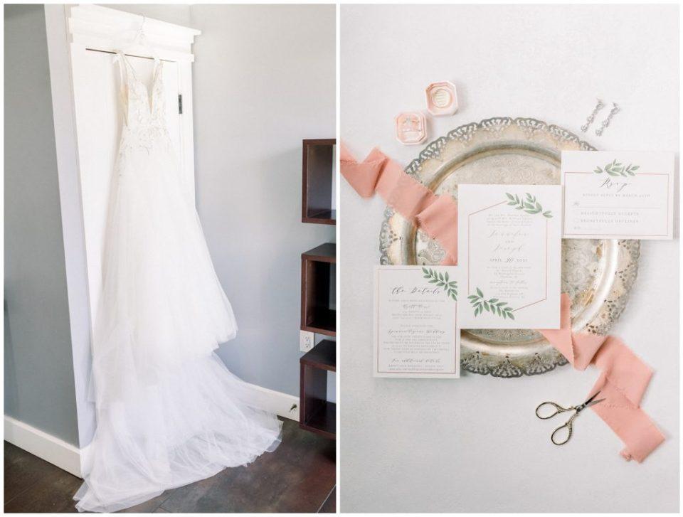 wedding dress at Ryland Inn Wedding