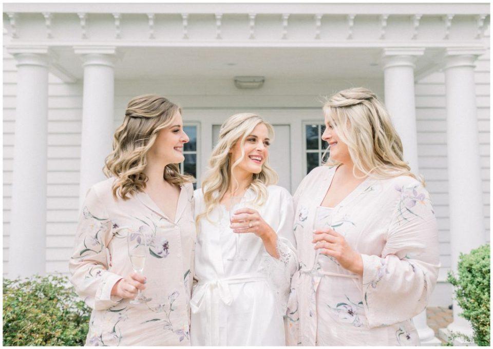 bride and sisters at Ryland Inn wedding