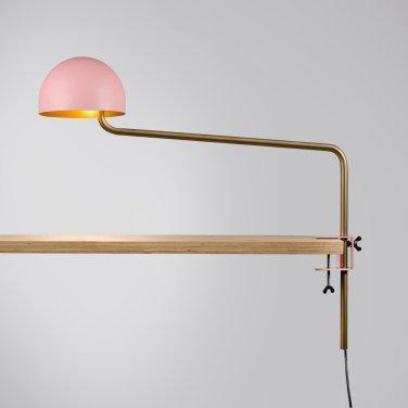Long armed Officer desk pink:gold:gold