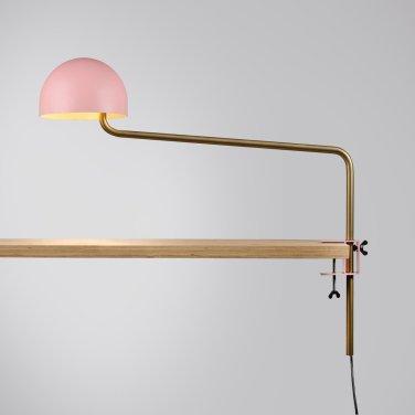 Long armed Officer desk pink:gold:white