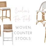 Caroline S Five Finds Woven Counter Stools Caroline On Design