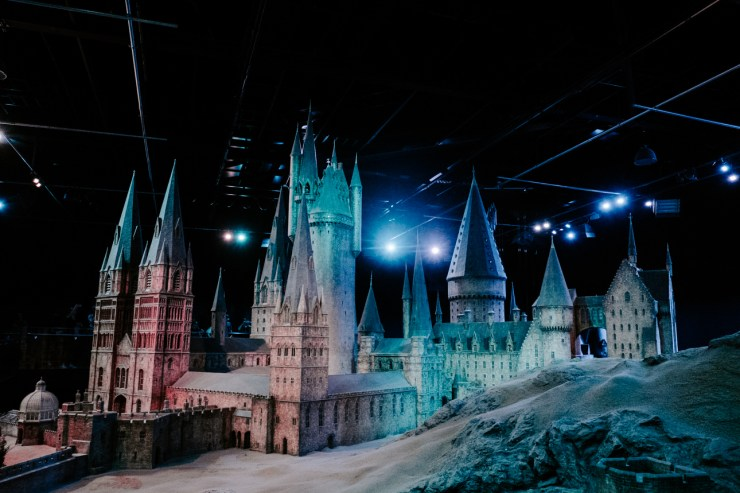 Hogwarts model at Warners Bros Studios