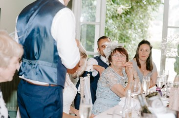 Mother of the Bride smiling warmly at new son in law