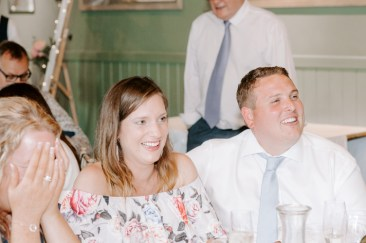 Wedding guest reactions to speeches