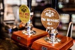 Wedding ale pump at a Islington wedding venue