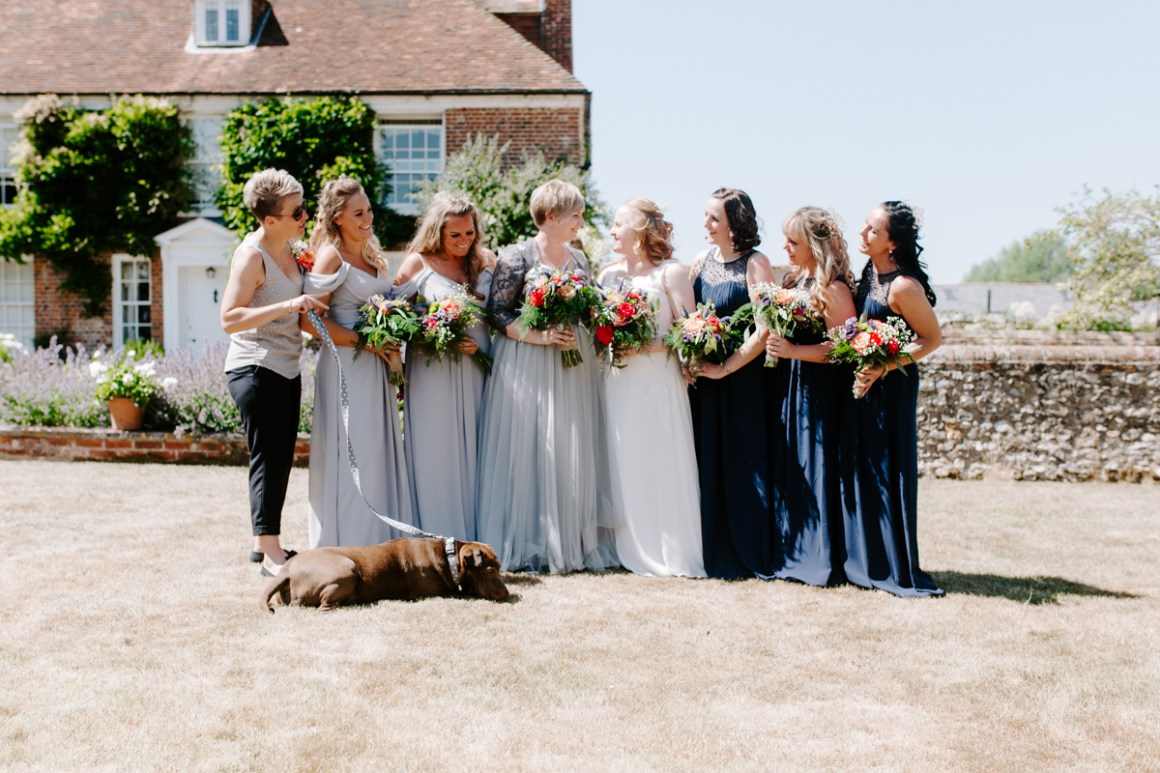 Bridal portraits at Dummer Down Farm