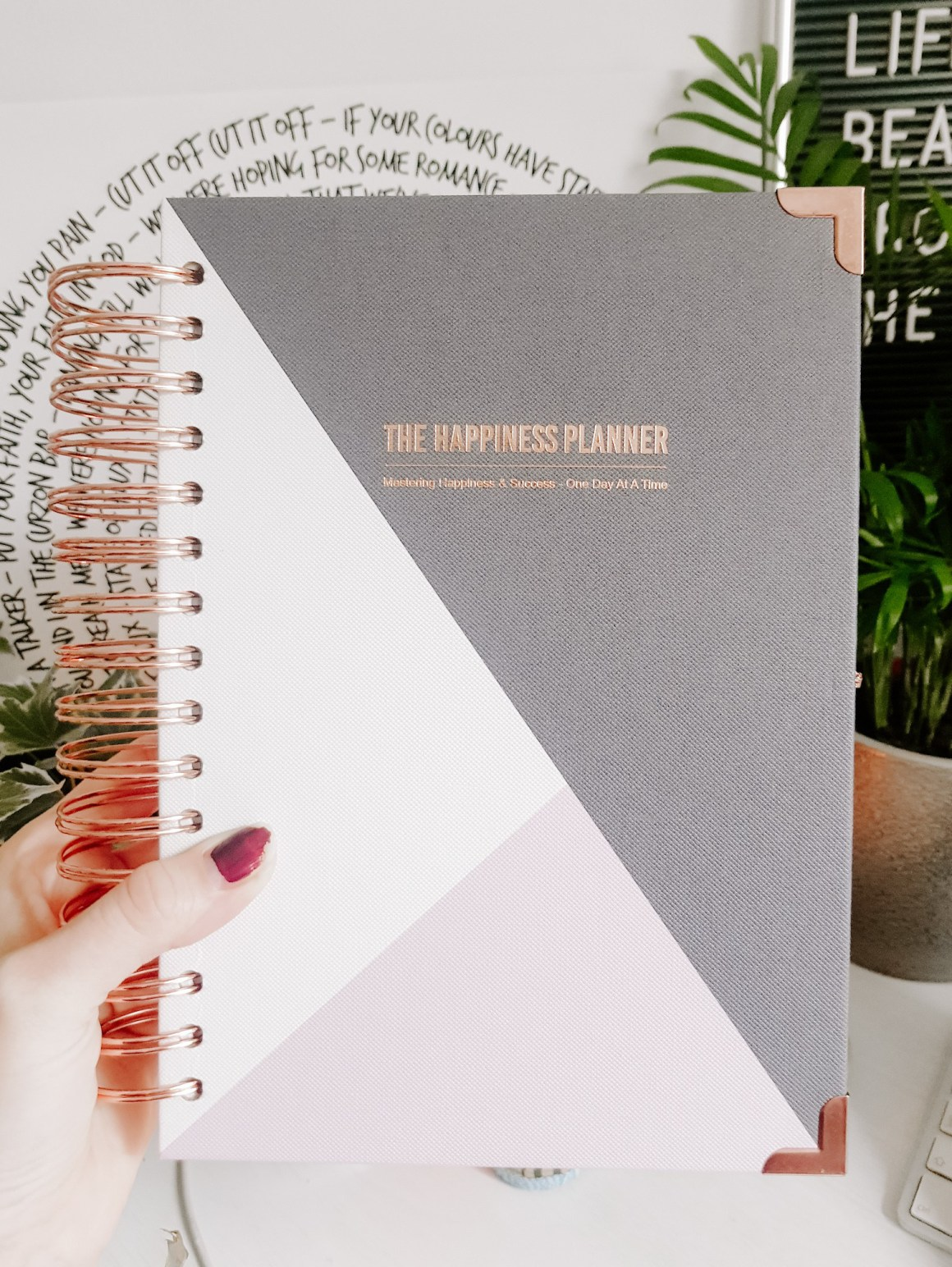 A photo of the Happiness Planner journal
