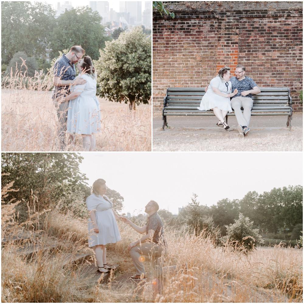 Proposal shoot in Greenwich Park