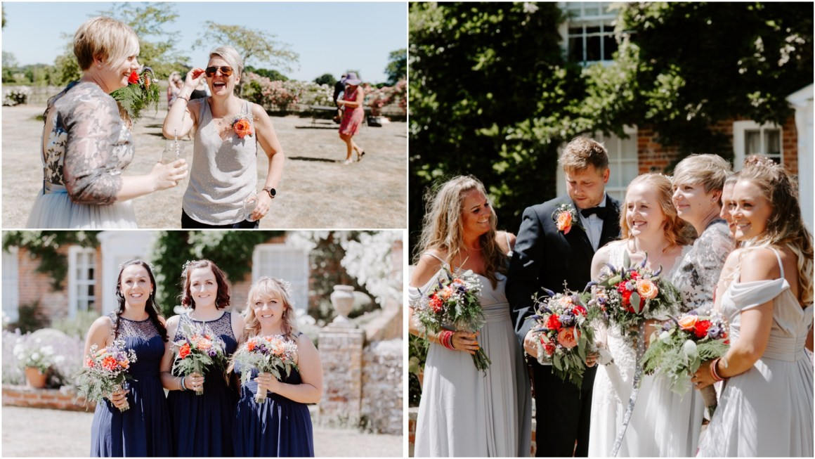 Wedding group photos at Dummer Down Farm