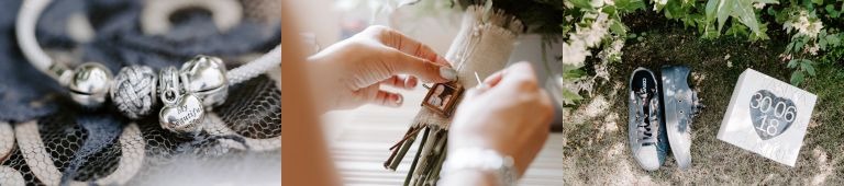 Handmade wedding day gifts and details