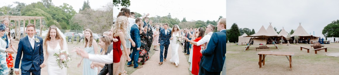 Confetti at Vanstone Park in Hertfordshire