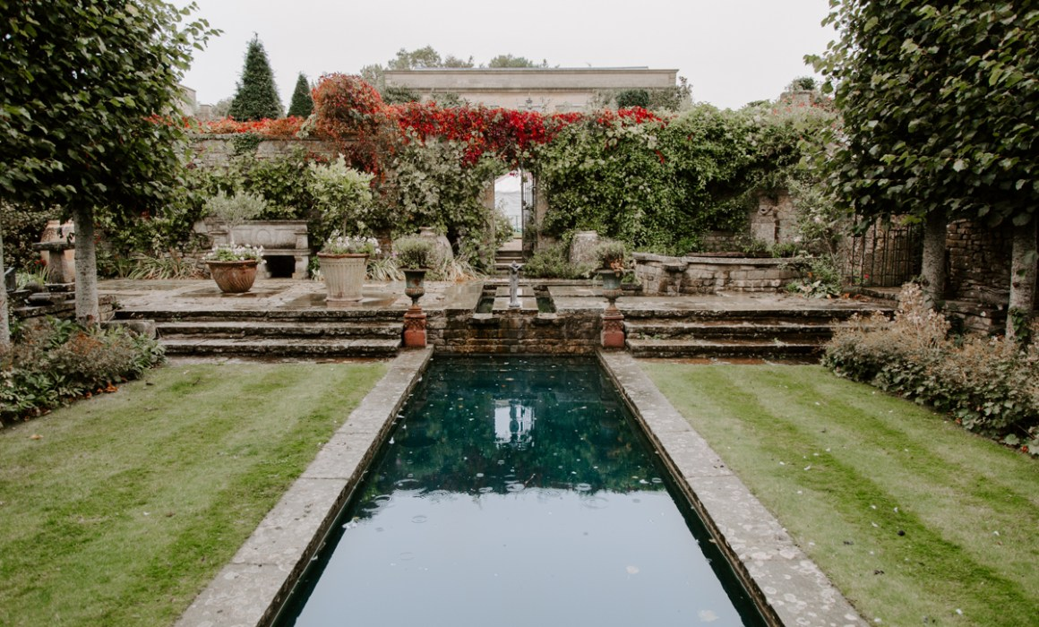 Outdoor grounds at Euridge wedding venue in the Cotswolds