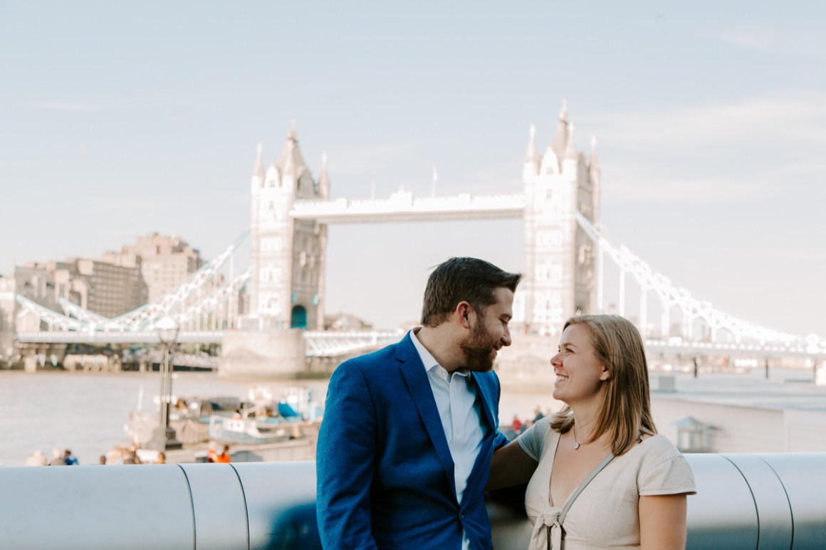 London engagement at Tower Bridge
