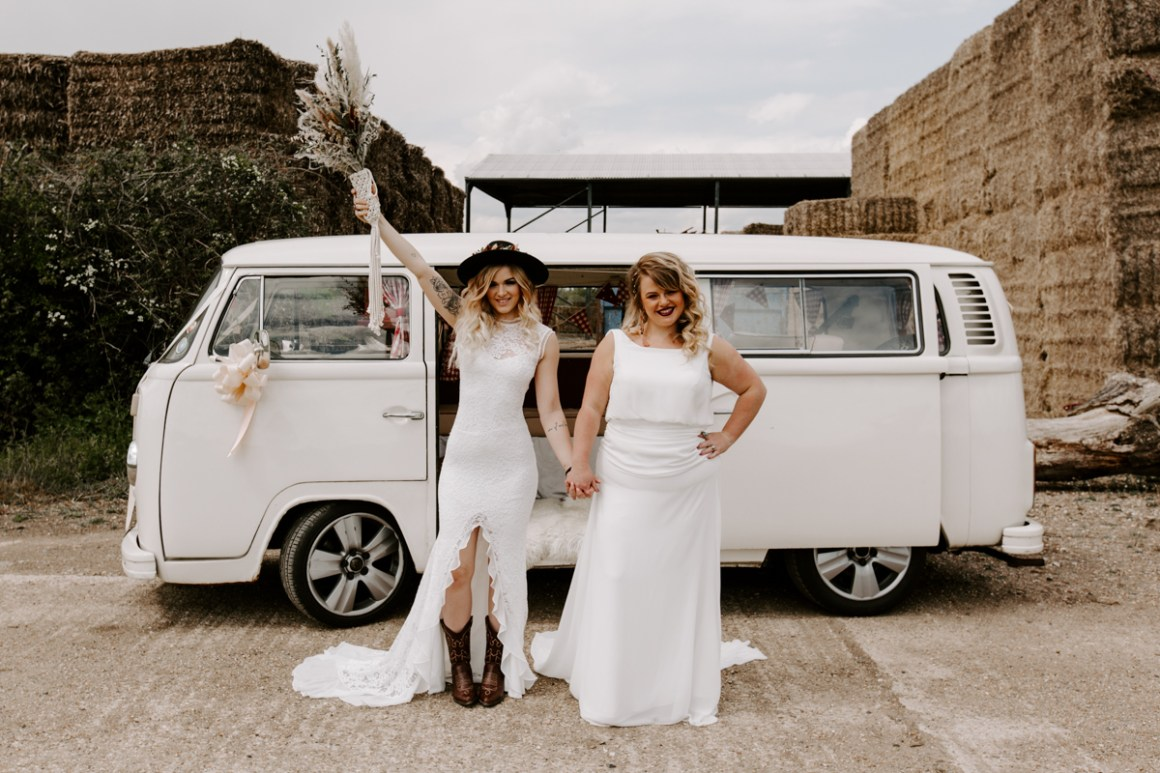 Boho wedding at the Barns at Lodge Farm, Epping