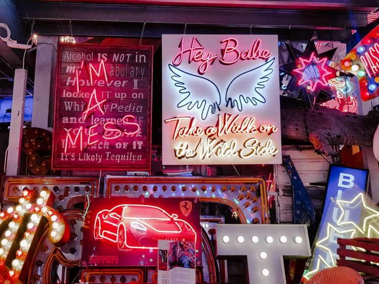 Neon signs at God's Own junkyard