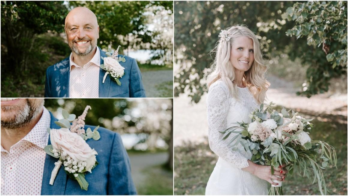 Bride and groom portraits at Baldersnas